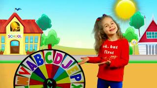 Alphabet magic spin with animation words #3 - Letters C, J, L