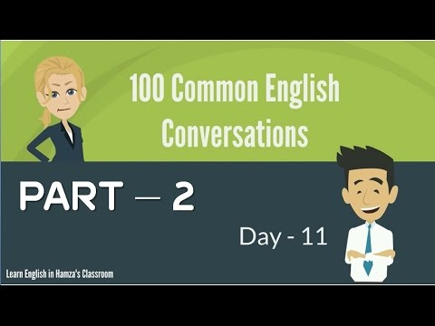 100 Common English Conversations - (PART - 02) -  Day  11 - 20