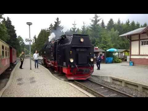 Brockenbahn - Narrow Gauge Railway with steam locomotive