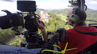 Chasing Ferraris in Malaysia with a film helicopter