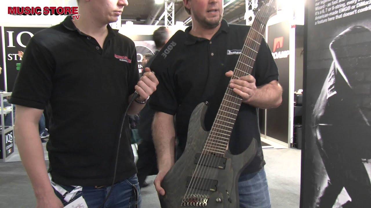 ibanez fanned fret 8 saiter gitarre musikmesse 2015 youtube