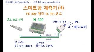 스마트팜 계측기 (4) PE-300 온도 습도 측정 s…
