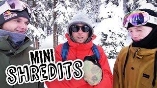 How many skiers can you spray while snowboarding? | MiniShredits S2E4 Seppe Smits vs Matt McCormick