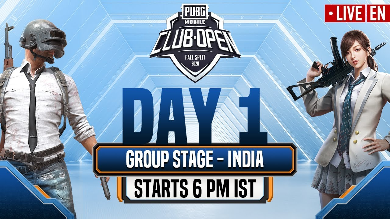 [EN] PMCO India Group Stage Day 1 | Fall Split | PUBG MOBILE CLUB OPEN 2020