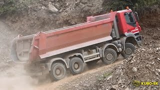 IVECO Trakker 8x8 dump truck - driving at the quarry
