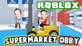 ROBLOX Escape from the supermarket. Entertaining videos for children.