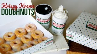 Krispy Kreme Doughnuts & Coffee Tutorial : How To Make Miniature Polymer Clay Dessert Thumbnail