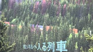 カナダ・ヨーホー国立公園スパイラルトンネルに出入りする貨物列車 20...