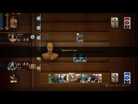 The Witcher 3: Gwent against the Merchant of the King of Beggars hideout