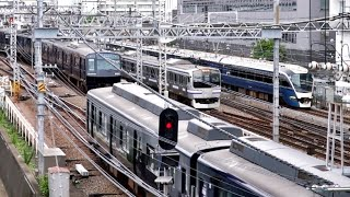 JR・相鉄 横浜駅 定点観察 定点カメラ  Japan Kanagawa Yokohama Sta.  Trains  (フリー素材・商用利用可) 無料素材 鉄道 電車 走行音 映像素材 高画質