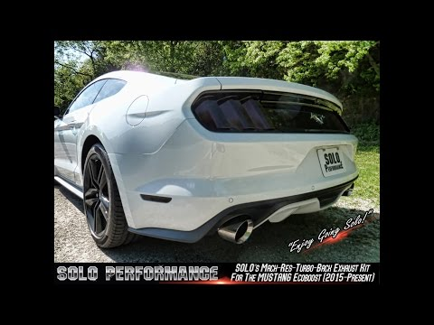 FORD MUSTANG ECOBOOST (2015-PRESENT) SOLO PERFORMANCE TURBO BACK EXHAUST KIT VIDEO
