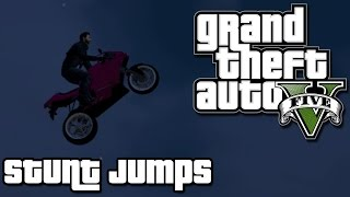 Grand Theft Auto 5 PC Gameplay - Stunt Jumps 2 and 3