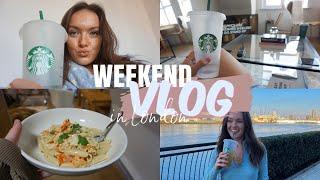 COSY WEEKEND VLOG: What I Ate🍝 River Walks, Pamper Sundays & Sunny London   Ames Banks