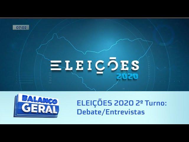 ELEIÇÕES 2020 2º Turno: Debate/Entrevistas