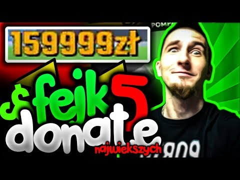 🔥 5 NAJWIĘKSZYCH [FAKE] DONEJTÓW Na POLSKIM YouTube! | ZairoxTV