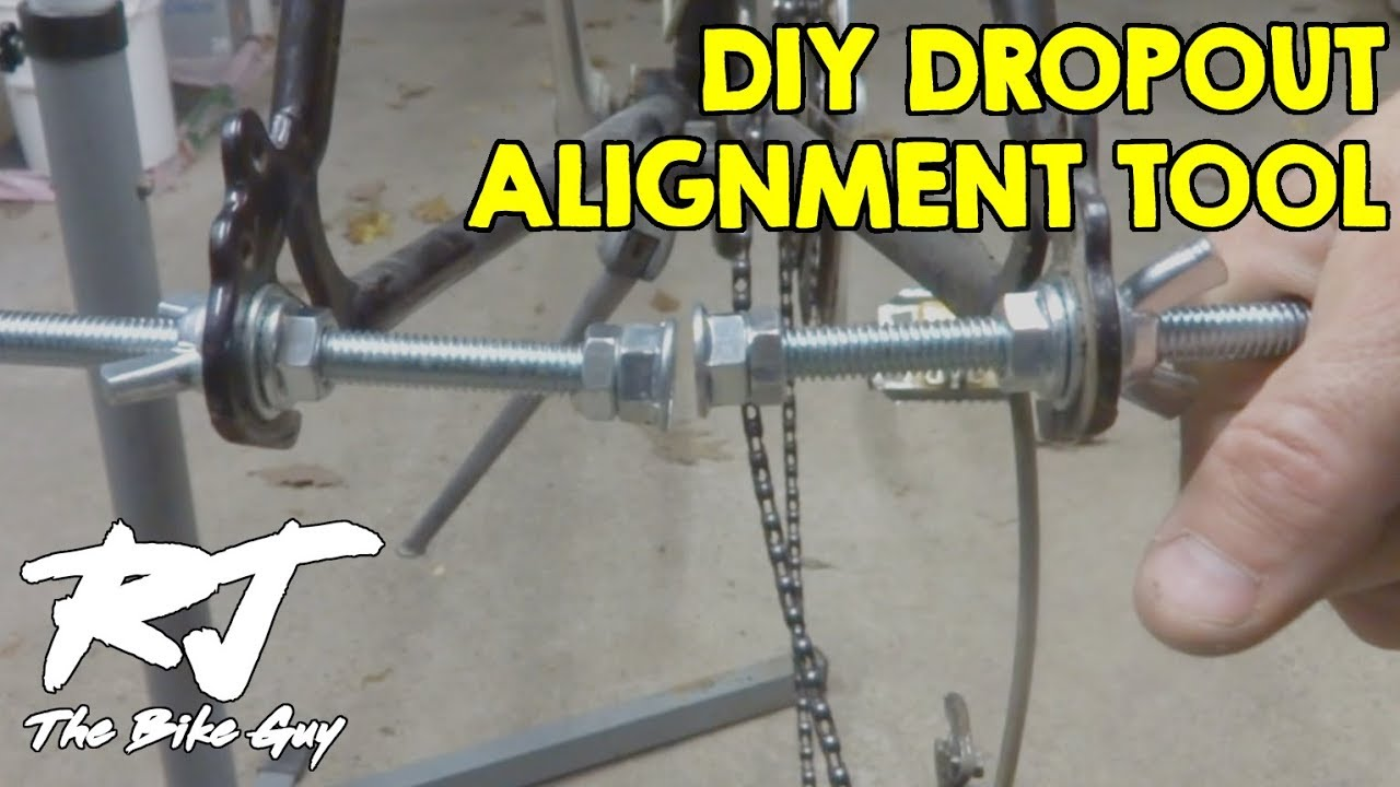 how to make diy dropout alignment gauge tools youtube