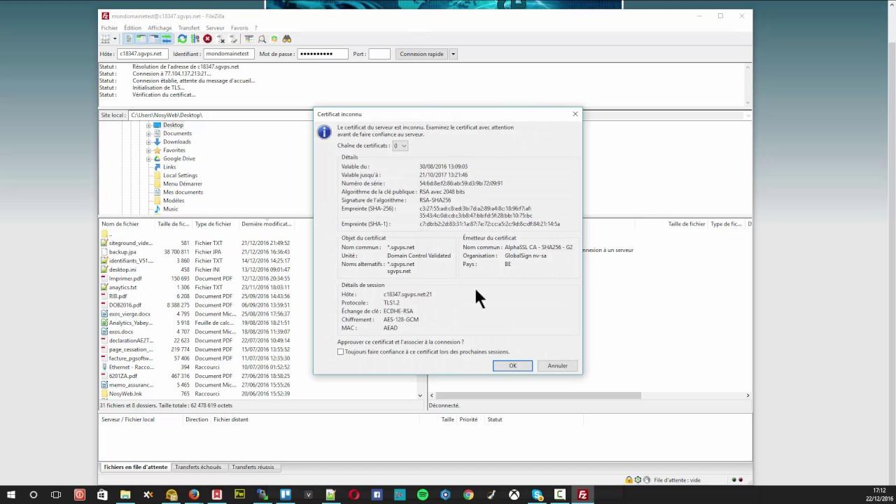 Hébergement Joomla - Création d'un compte FTP chez SiteGround