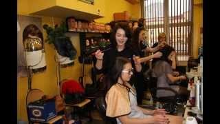 szkoły kielce   pokaz fryzur