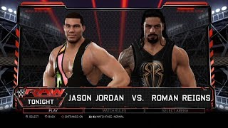WWE 2K17 PS3 Gameplay - Jason Jordan VS Roman Reigns [60FPS][FullHD]