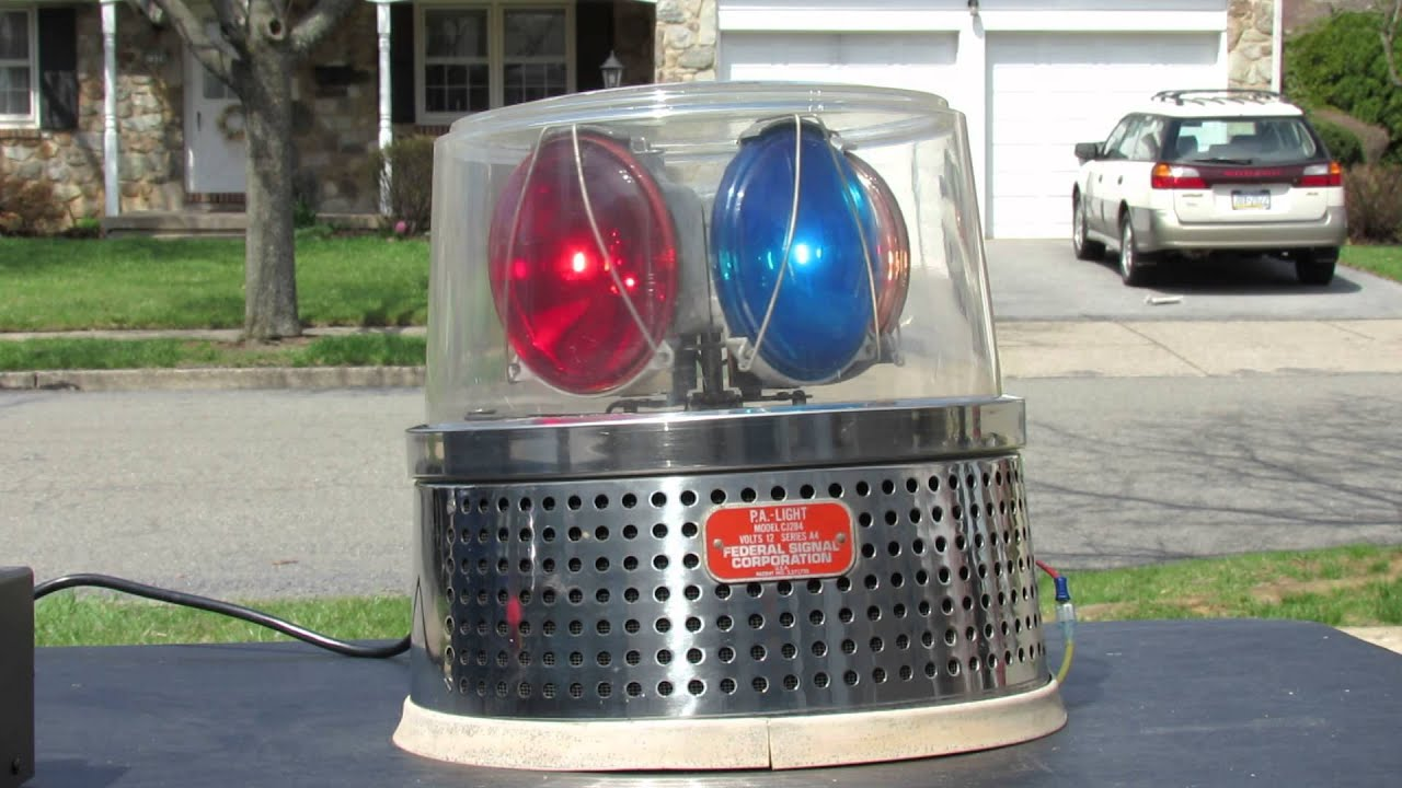 Federal Signal Cj284 Md State Police Beacon Youtube