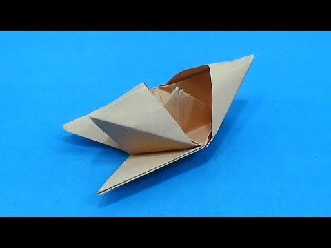 Paper Speed Boat - How To Make Paper Speed Boat Origami - Paper Speed Boat Instructions Tutorial