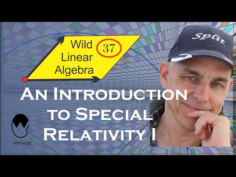 Wild Linear Algebra 37: An elementary introduction to Special Relativity I