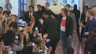 ポールさんにファン大歓声 48年ぶり武道館公演で来日 Paul McCartney arrives in Japan