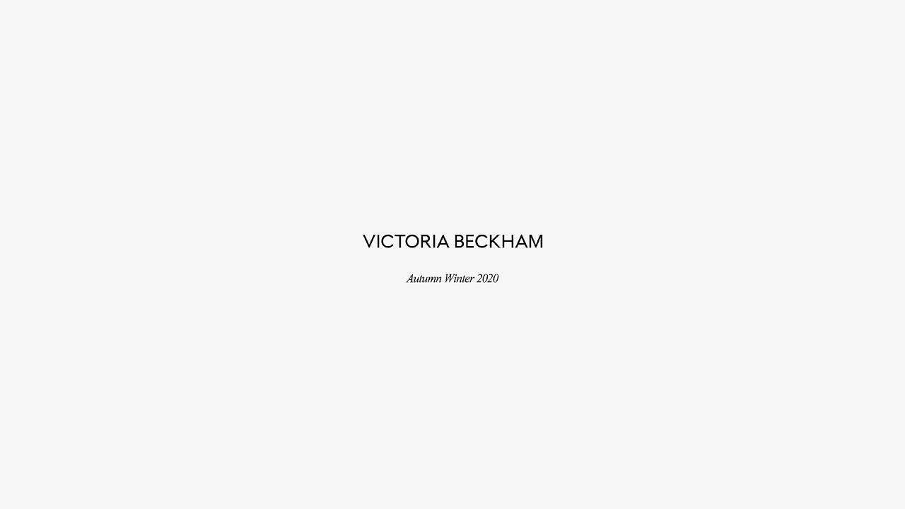 Victoria Beckham | Autumn Winter 2020 - London Fashion Week Live