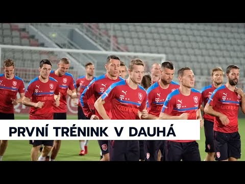 Česká reprezentace dorazila do Kataru a v Dauhá už trénovala