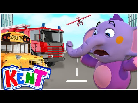 Colors for Children | Learn Street Vehicles w/ Kent + More Educational Videos by Kent the Elephant!