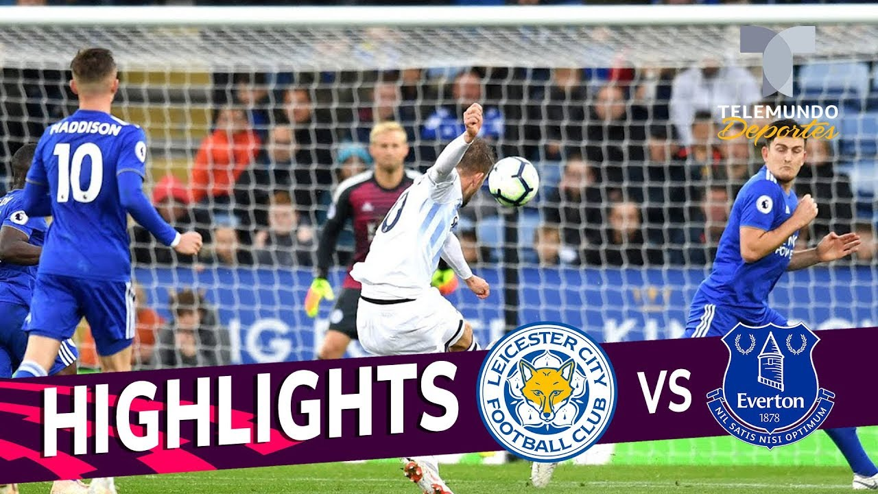 Leicester City Vs Everton 1 2 Goals Highlights
