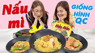 Thử thách nấu mì y hệt như hình quảng cáo cùng Hải Yến & Hạnh Chee !