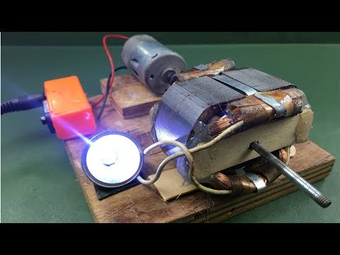5V AC Generator Real 100% , Free energy 2018 , New science home project