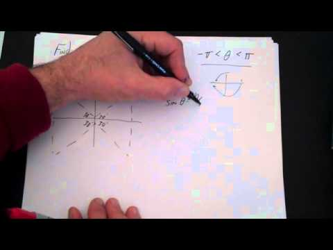 how to find size of an angle trig