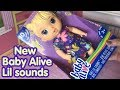 Brand NEW Baby Alive LIL SOUNDS box opening and details