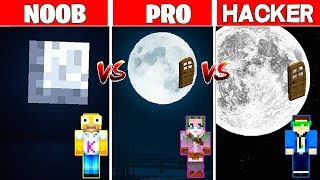Minecraft NOOB vs PRO vs HACKER: LA CASA DE LUNA en MINECRAFT 🌚