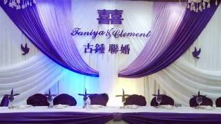 Set Up Chinese Wedding Backdrop Decor Toronto | Wedding Background Decoration GTA | Forever Video