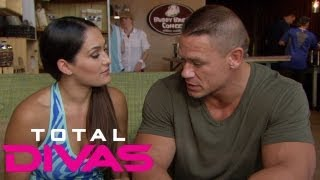 john cena urges nikki bella to get her injury checked out total divas sept 8 2013
