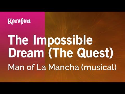 Karaoke The Impossible Dream - Man Of La Mancha *