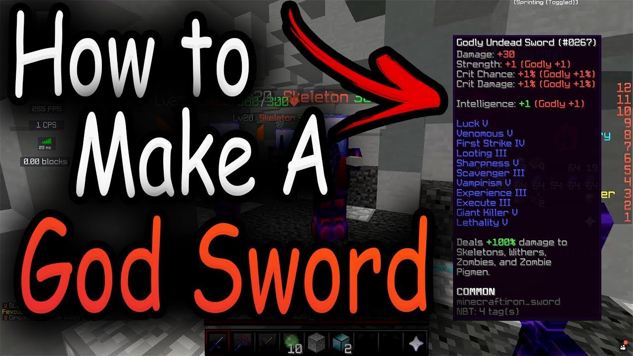 Hypixel Skyblock How To Make A God Sword Youtube