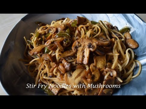 stir-fry-noodles-with-mushrooms-|-vegetable-noodles-with-mushrooms-|-easy-and-healthy-recipe