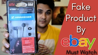 Received A Fake Sennheiser CX 180 earphone from eBay, Fraud By an eBay seller,