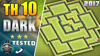 BEST TH10 DARK ELIXIR FARMING BASE 2017 ♦ NEW TOWN HALL 10 FARMING BASE WITH REPLAY | CLASH OF CLANS