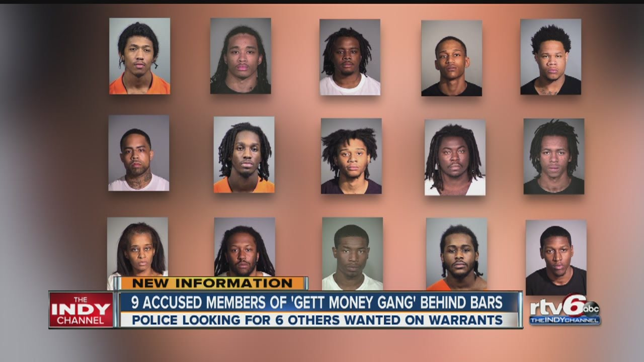 Nine Gett Money Gang members arrested
