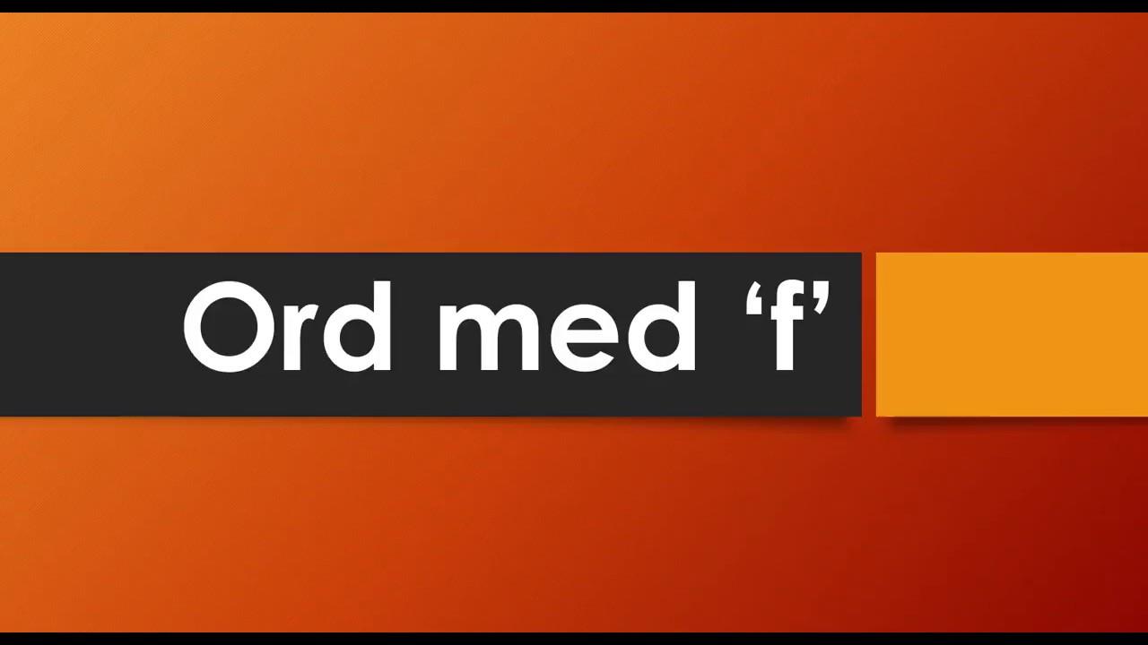 10 Ord Med F Danskarabisk Youtube