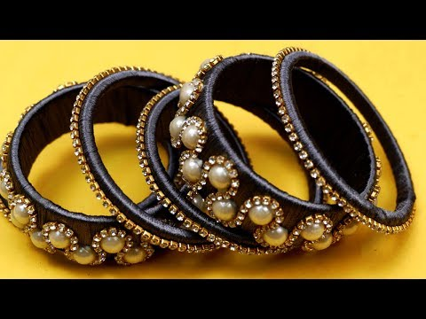 Latest silk thread jewellery Set Bangles making at home || designer bangles 2019 | DIY bangles