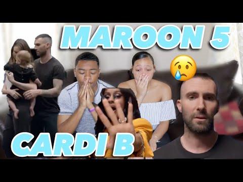 MAROON 5- GIRLS LIKE YOU FT. CARDI B MUSIC VIDEO REACTION