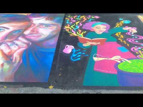 Palo Alto Festival of Arts 2018, Chalk Art,Clip 1