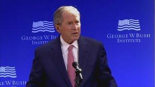 Seltene Rede: George W. Bush verurteilt Trumps Politik ungewöhnlich deutlich