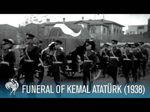Funeral Of Kemal Atatürk: Former President of Turkey (1938) | British Pathé